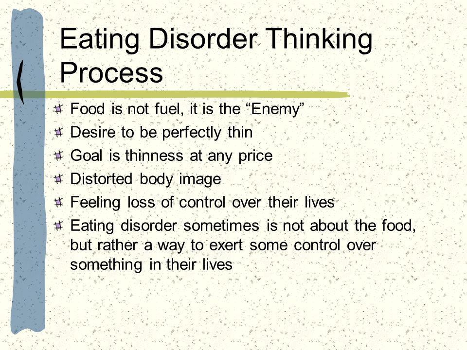 Eating Disorder Thinking Process