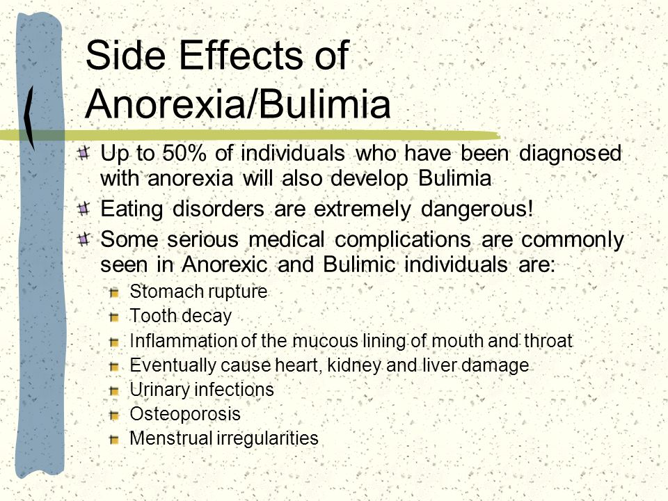 Side Effects of Anorexia/Bulimia