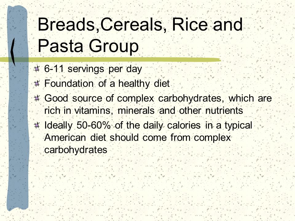 Breads,Cereals, Rice and Pasta Group