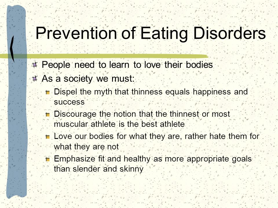 Prevention of Eating Disorders