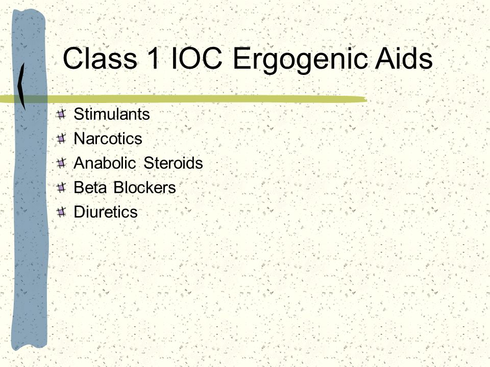 Class 1 IOC Ergogenic Aids
