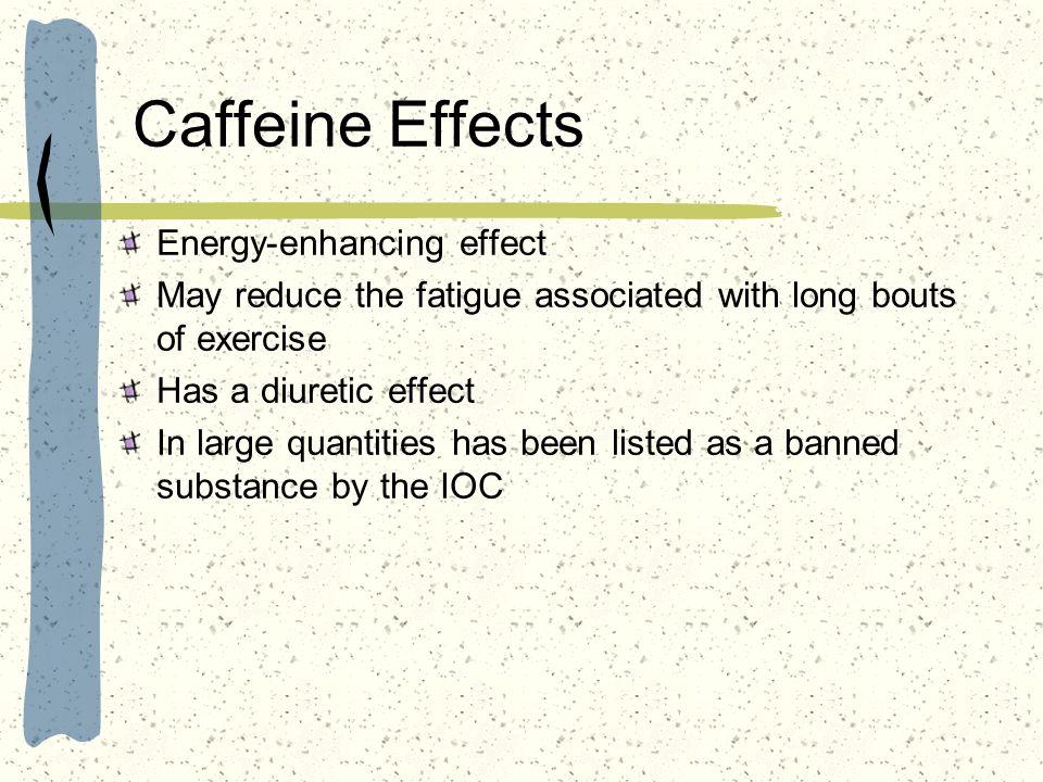 Caffeine Effects Energy-enhancing effect