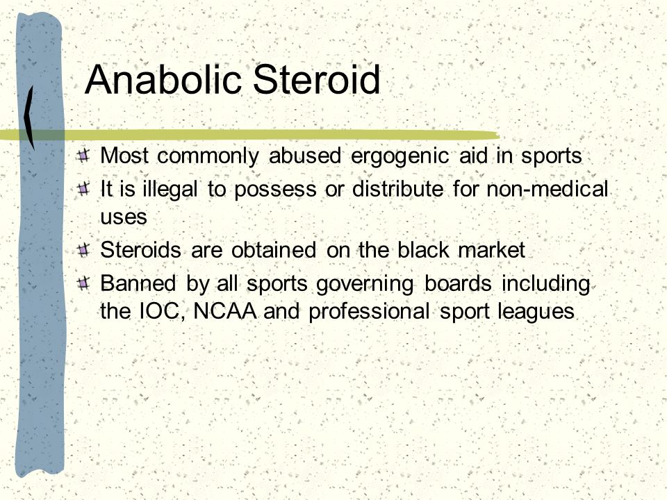 Anabolic Steroid Most commonly abused ergogenic aid in sports