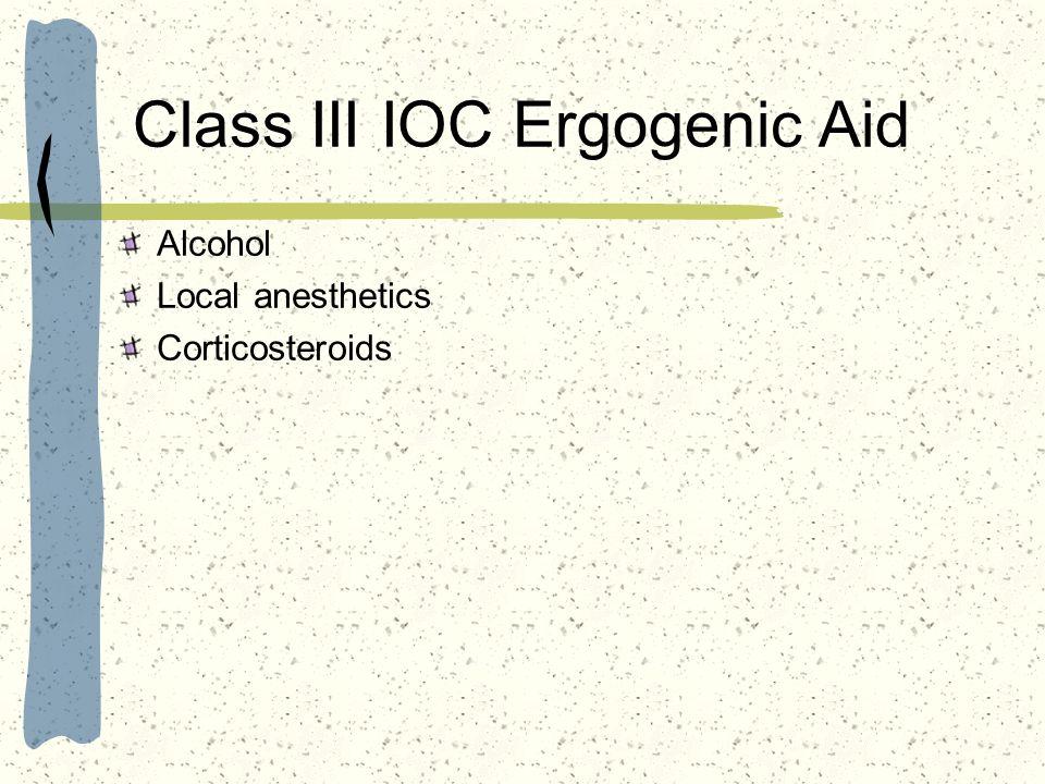 Class III IOC Ergogenic Aid