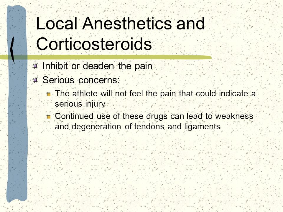 Local Anesthetics and Corticosteroids