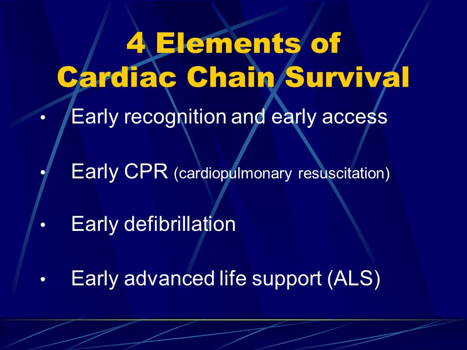 4 Elements of Cardiac Chain Survival