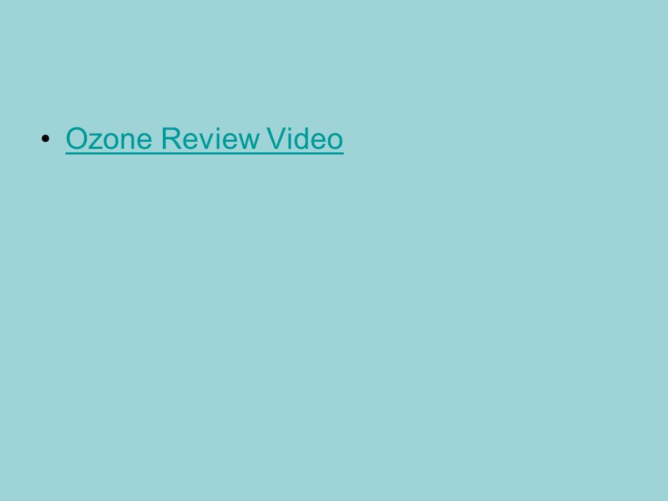 Ozone Review Video