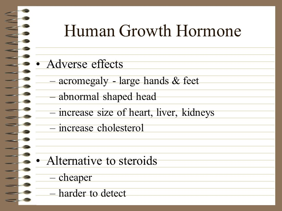 Human Growth Hormone Adverse effects Alternative to steroids