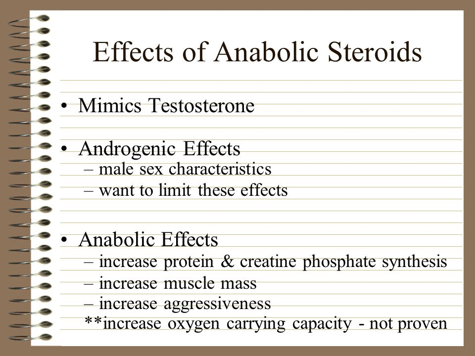 Effects of Anabolic Steroids