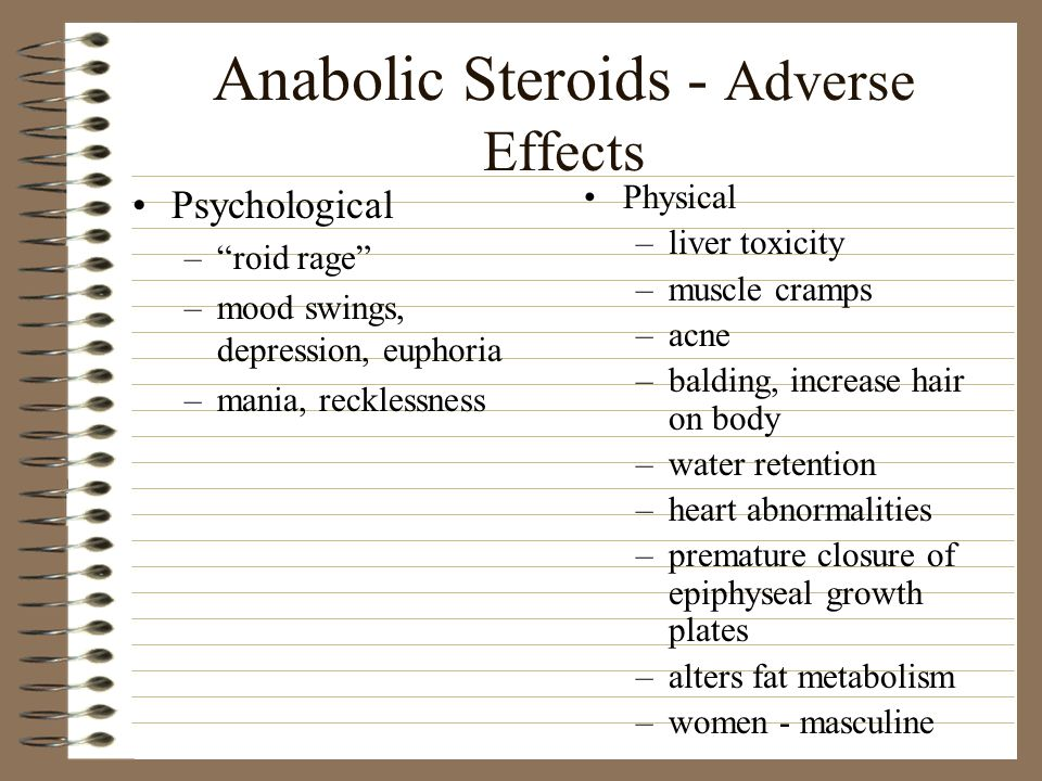 Anabolic Steroids - Adverse Effects
