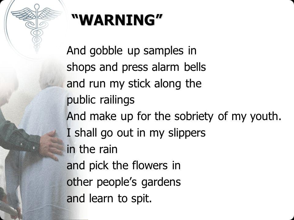 WARNING And gobble up samples in shops and press alarm bells