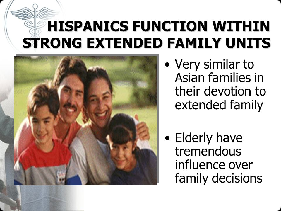 HISPANICS FUNCTION WITHIN STRONG EXTENDED FAMILY UNITS