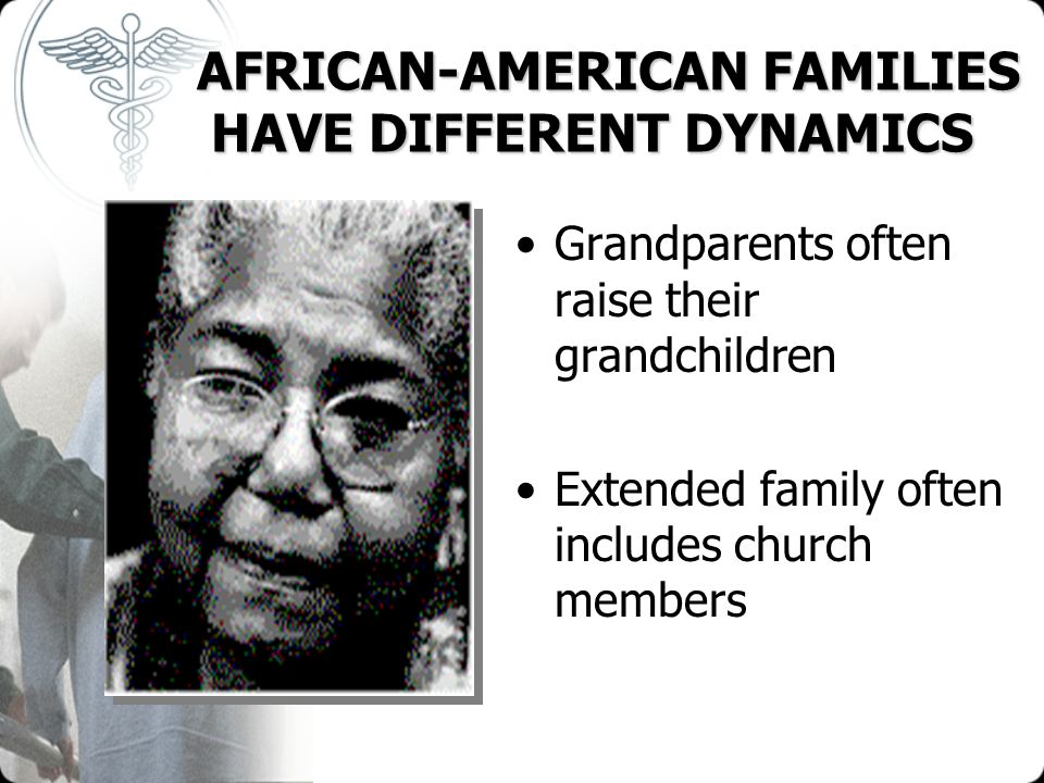 AFRICAN-AMERICAN FAMILIES HAVE DIFFERENT DYNAMICS