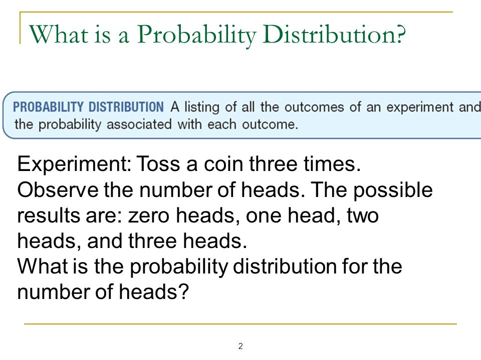 What is a Probability Distribution
