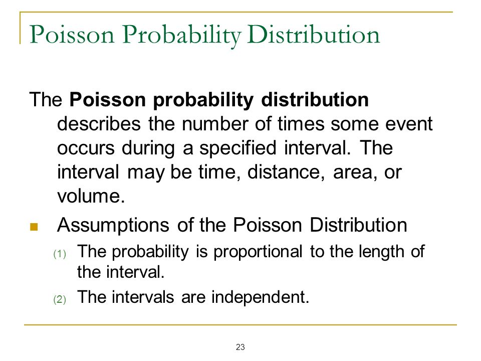 Poisson Probability Distribution