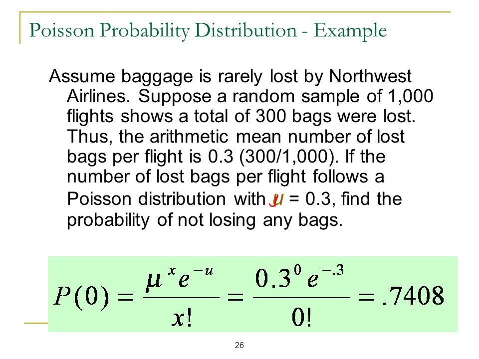 Poisson Probability Distribution - Example