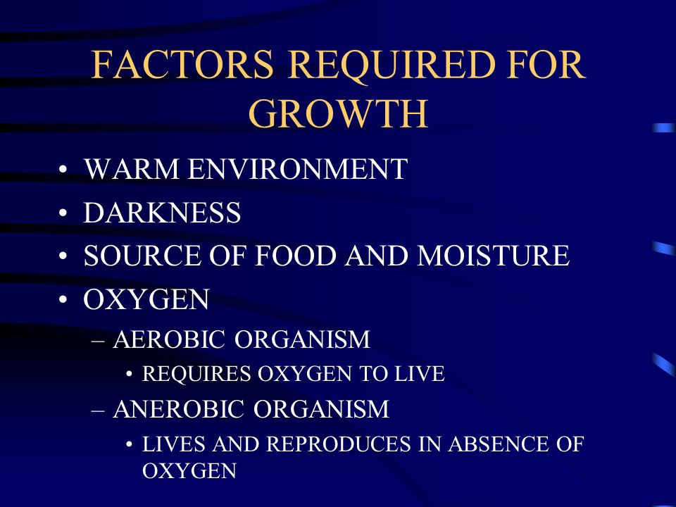FACTORS REQUIRED FOR GROWTH