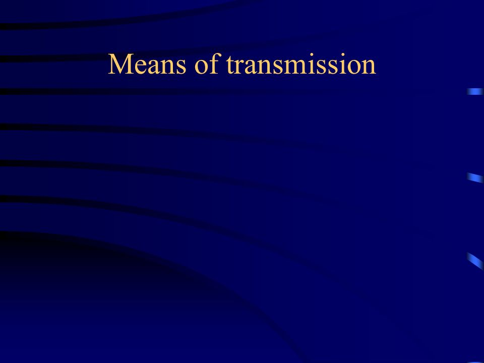 Means of transmission