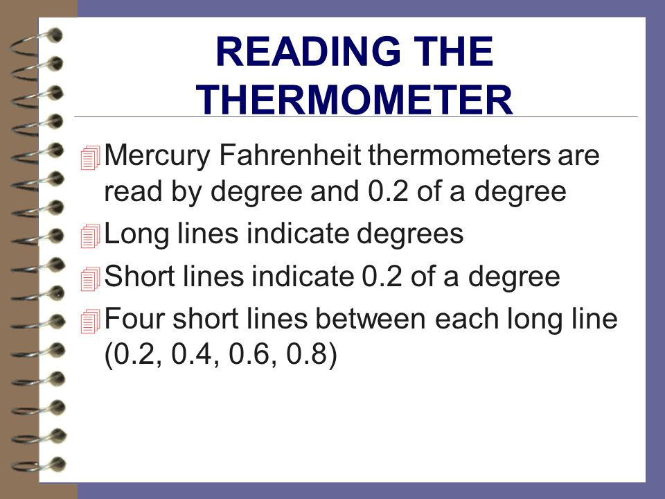 READING THE THERMOMETER