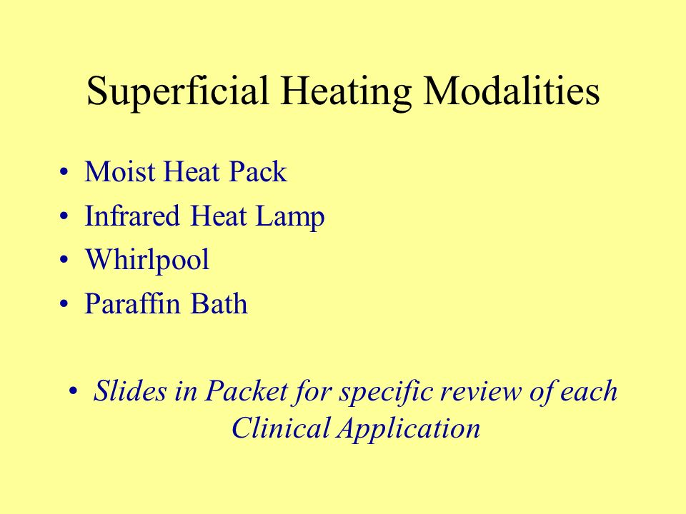 Superficial Heating Modalities