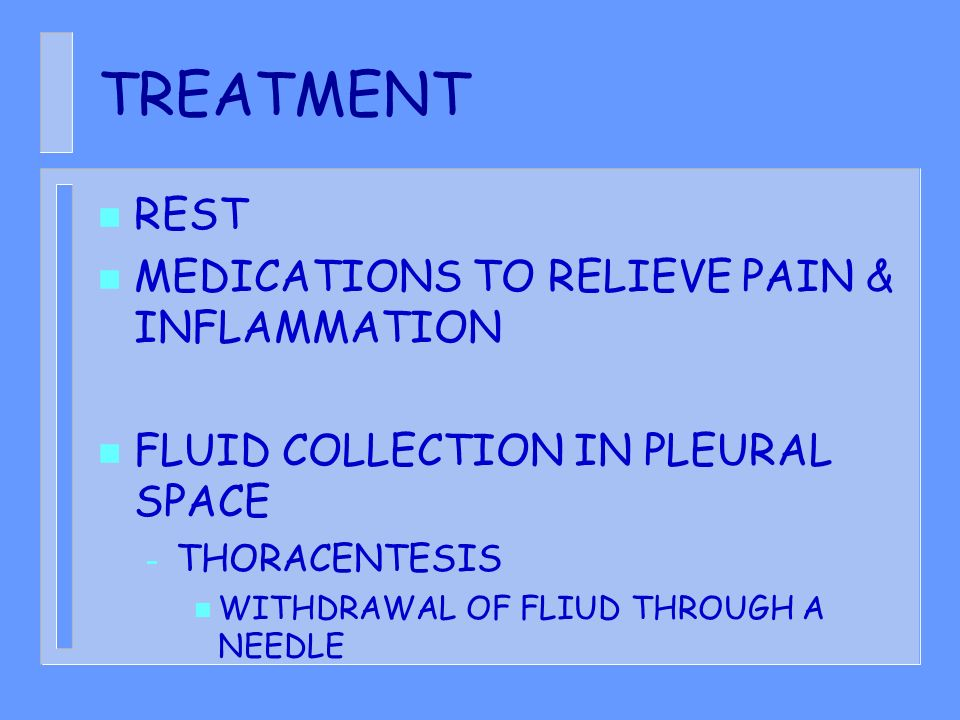 TREATMENT REST MEDICATIONS TO RELIEVE PAIN & INFLAMMATION