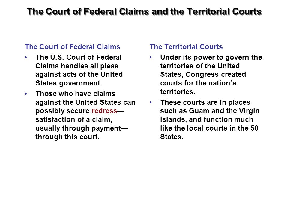 The Court of Federal Claims and the Territorial Courts