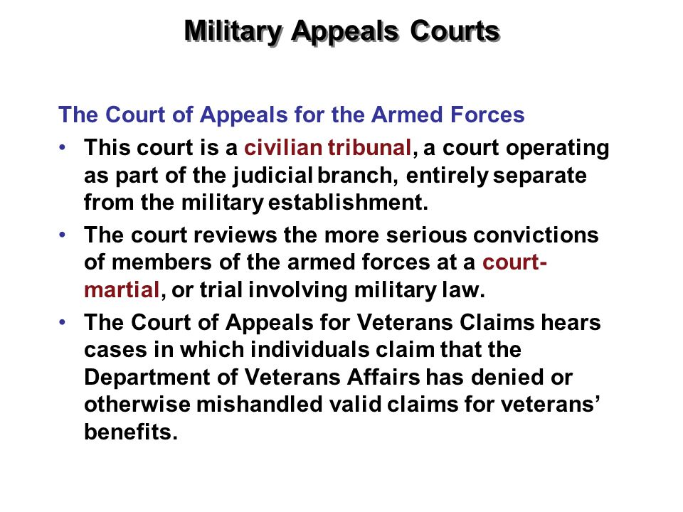 Military Appeals Courts