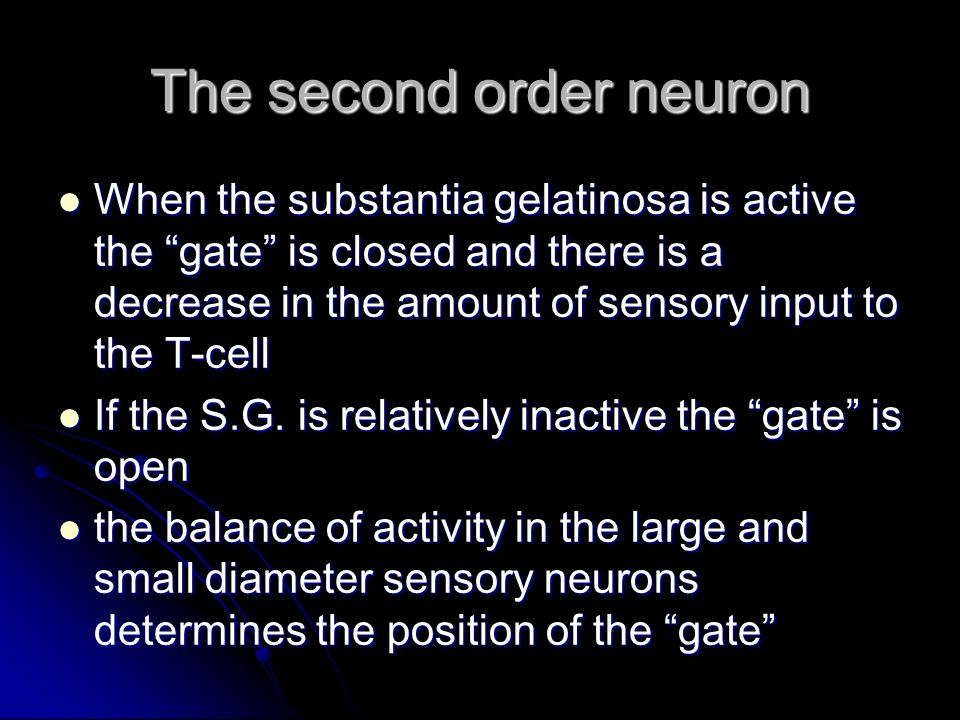 The second order neuron