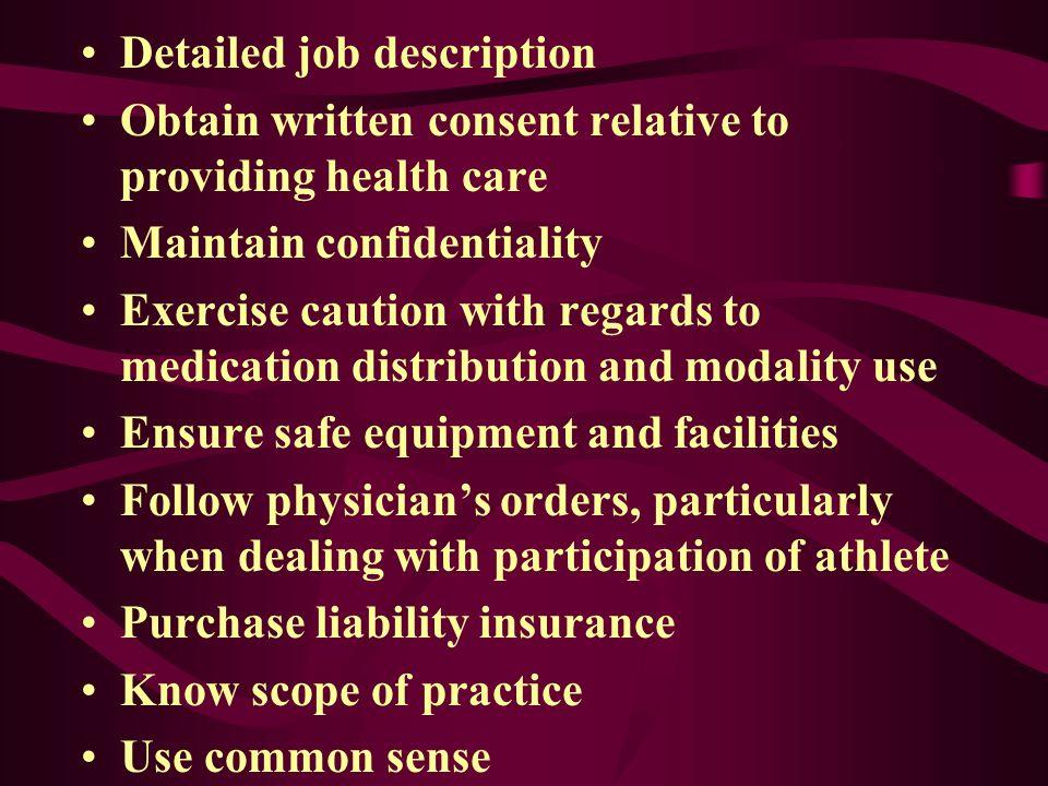 Detailed job description