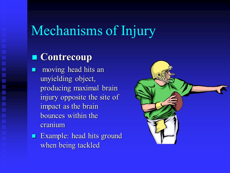 Mechanisms of Injury Contrecoup