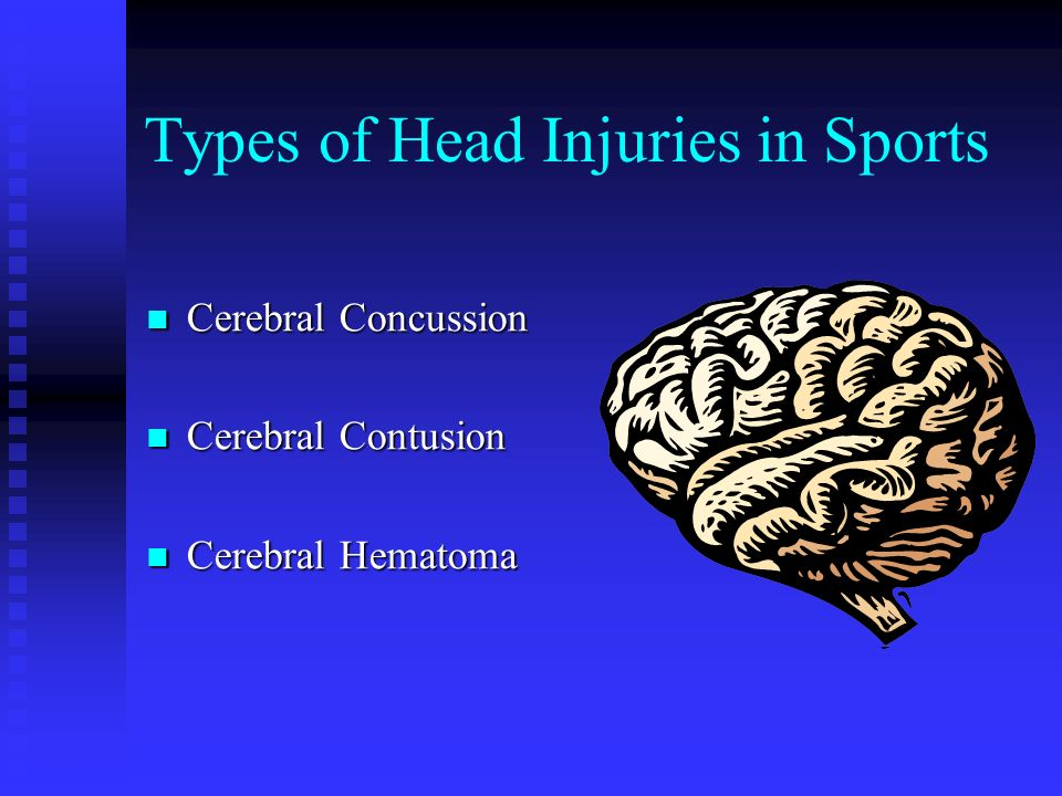 Types of Head Injuries in Sports