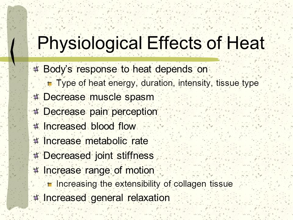 Physiological Effects of Heat