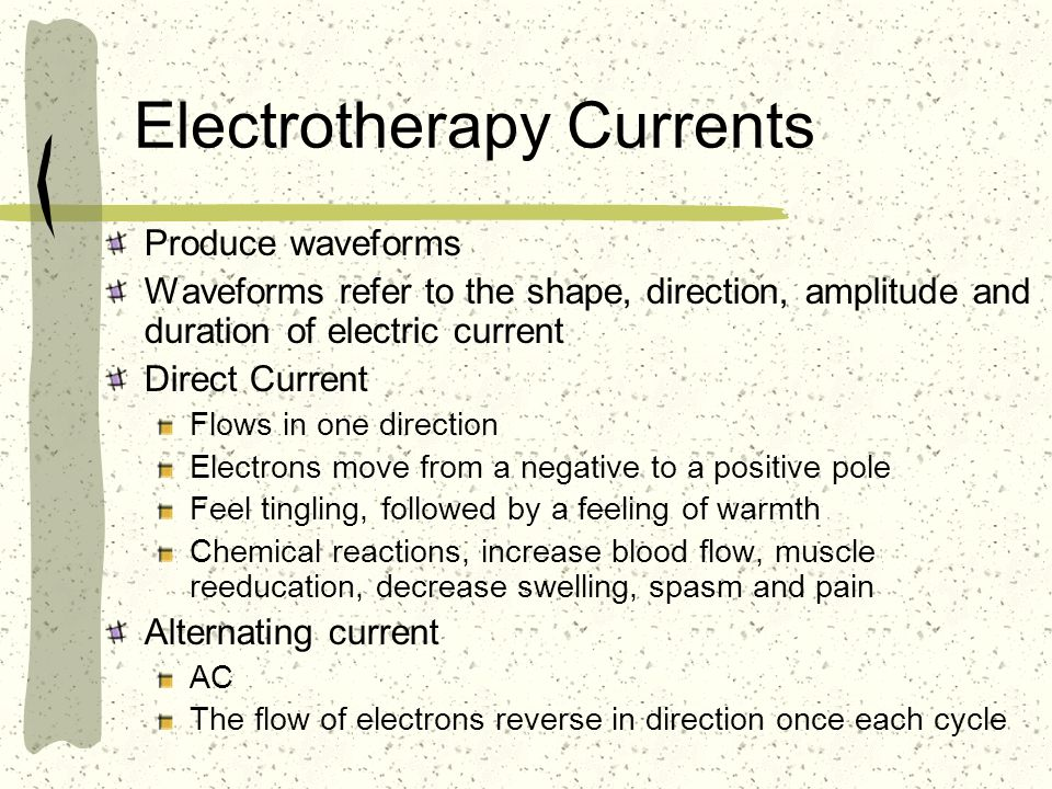 Electrotherapy Currents