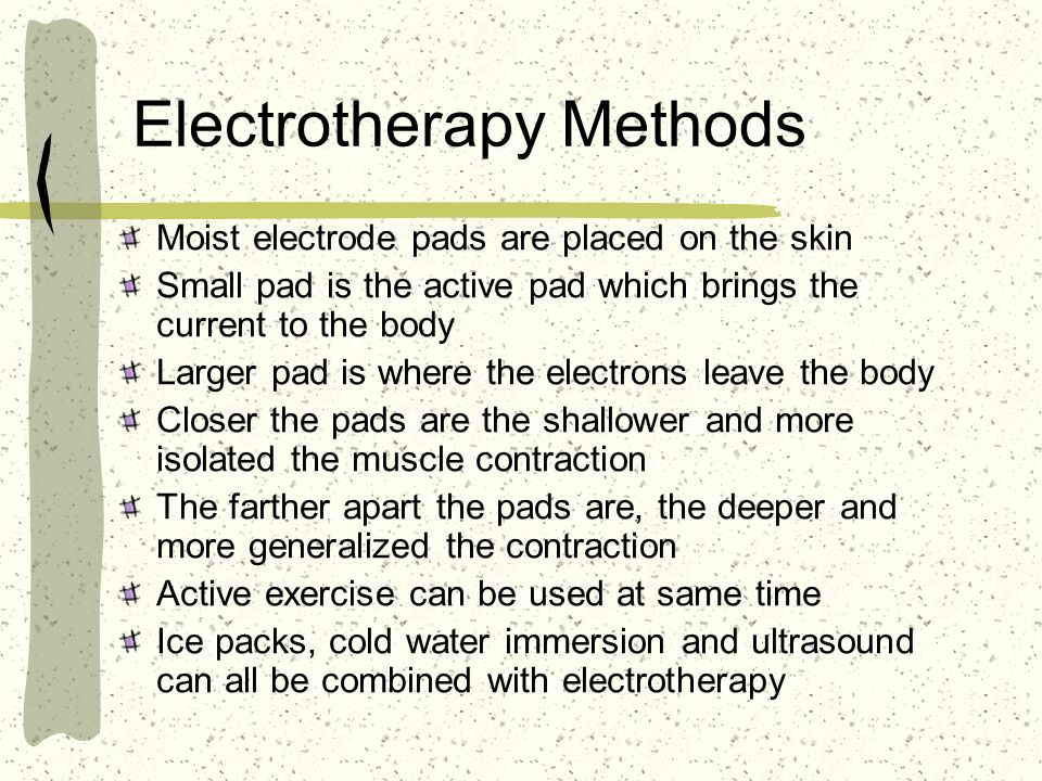 Electrotherapy Methods