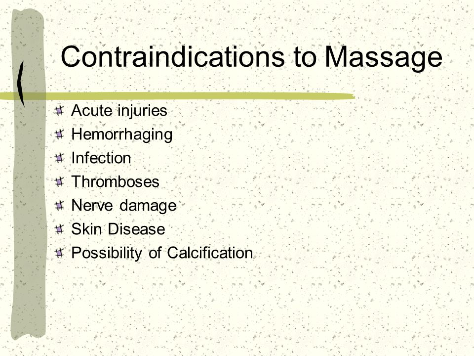 Contraindications to Massage