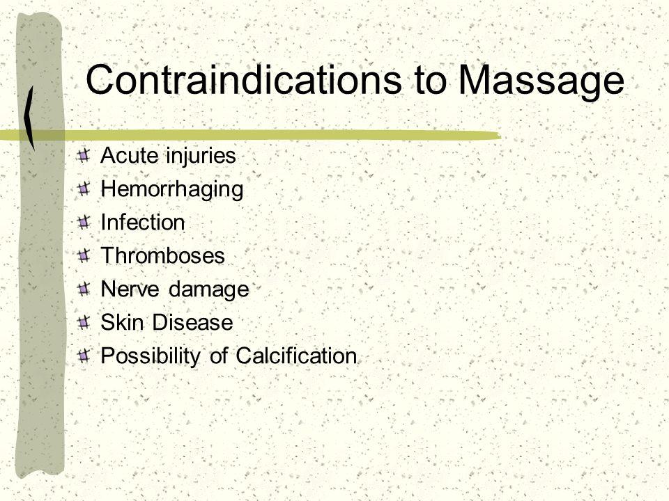 Contraindications to Massage