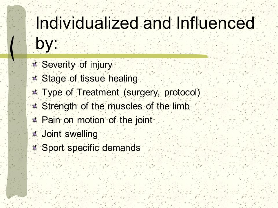 Individualized and Influenced by: