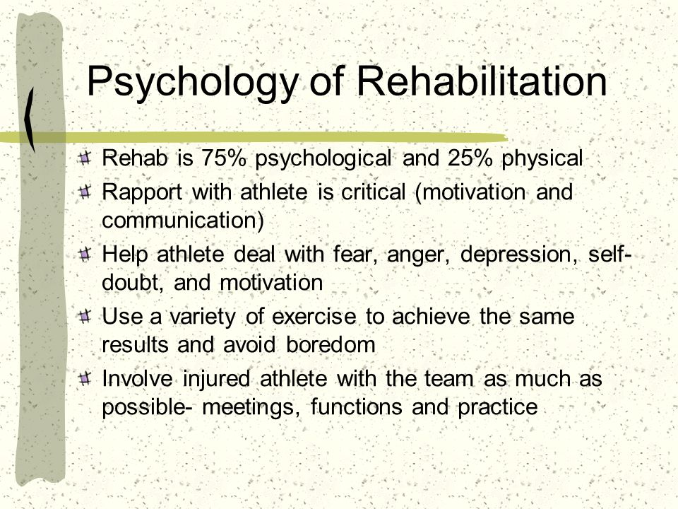 Psychology of Rehabilitation