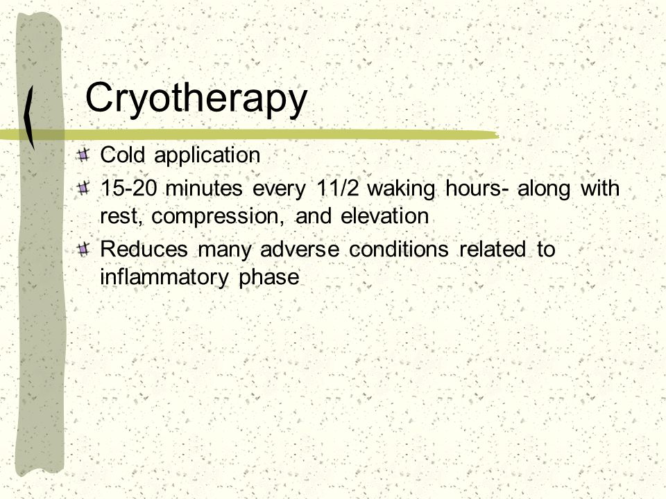 Cryotherapy Cold application