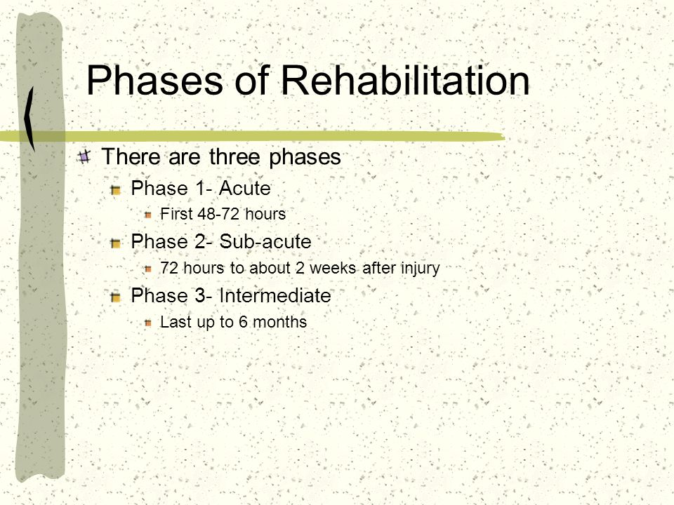 Phases of Rehabilitation