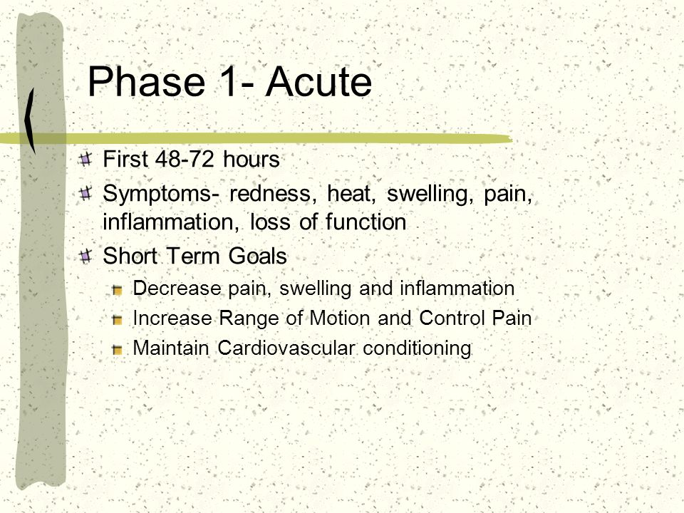 Phase 1- Acute First 48-72 hours