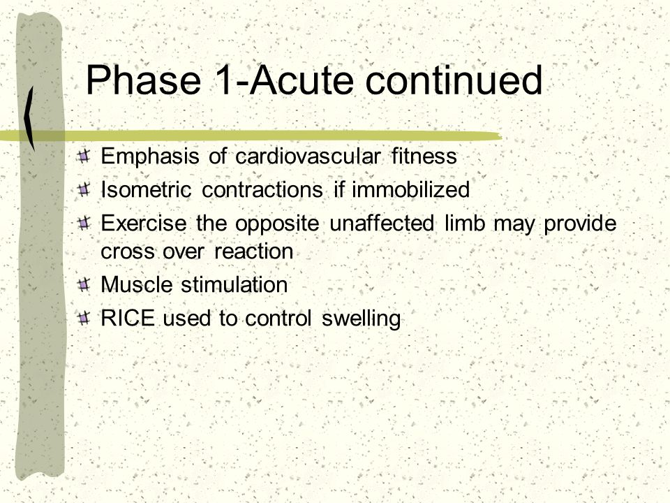 Phase 1-Acute continued