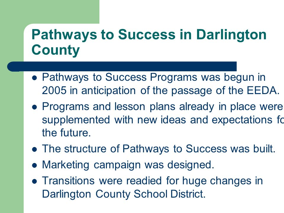 Pathways to Success in Darlington County