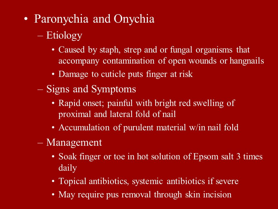 Paronychia and Onychia