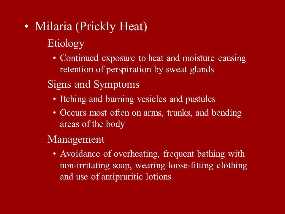 Milaria (Prickly Heat)