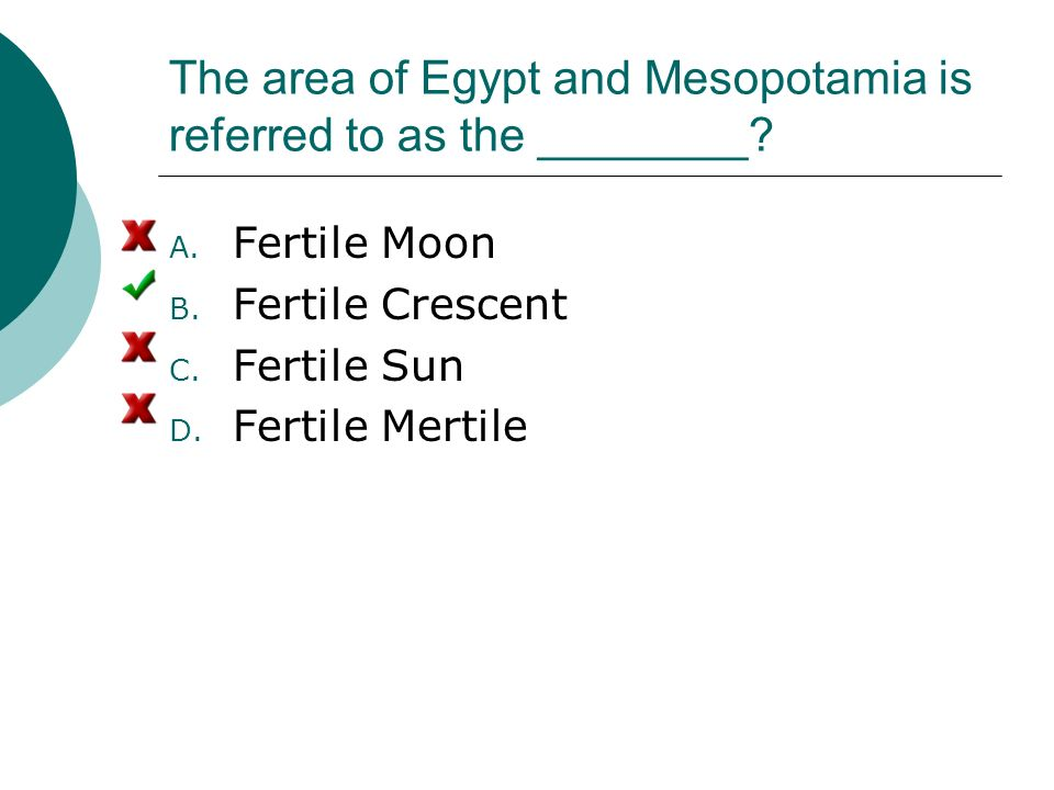 The area of Egypt and Mesopotamia is referred to as the ________