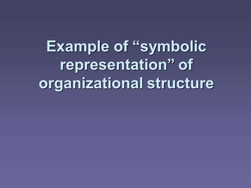 Example of symbolic representation of organizational structure