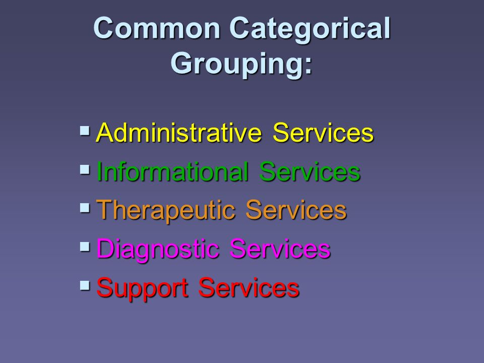 Common Categorical Grouping: