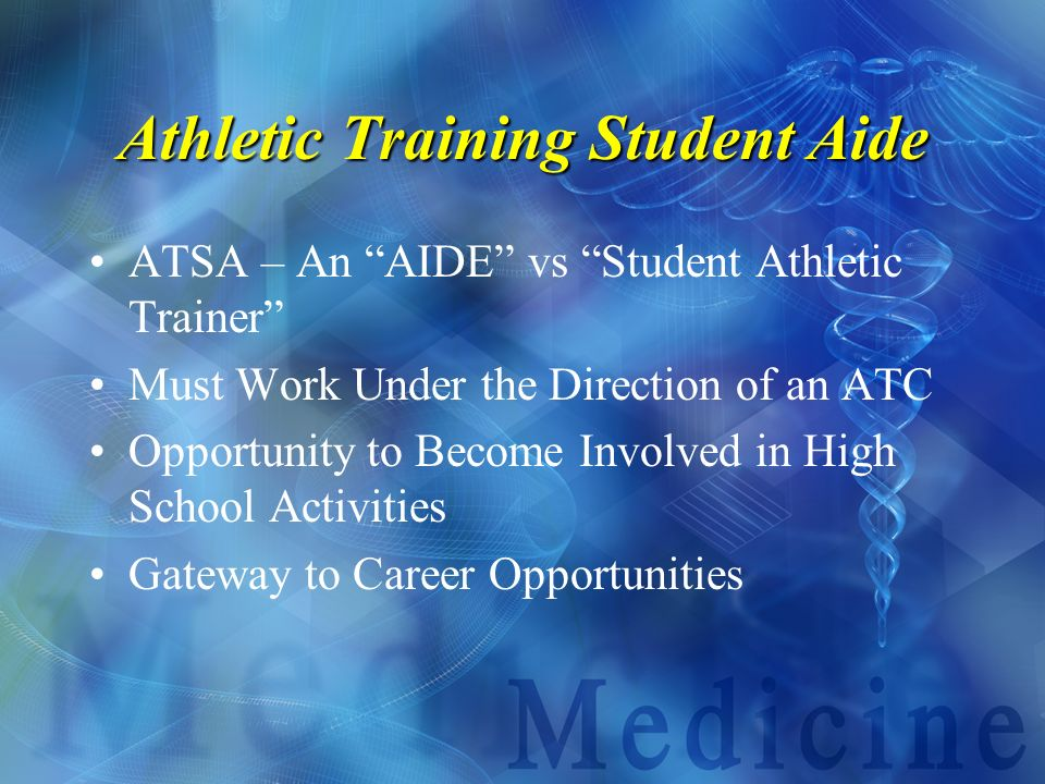 Athletic Training Student Aide