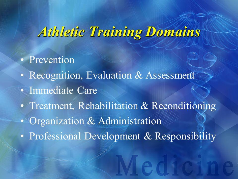 Athletic Training Domains